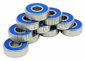 Pack Of 10 Bearings 88621 2rs 1 2 x1 3 8 x7 16 Sealed Ball Bearings 21098