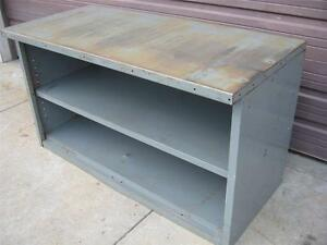 Steel Metal Work Bench Table Tool Shop Utility Shelf 60x34x28 Workbench Cabinet