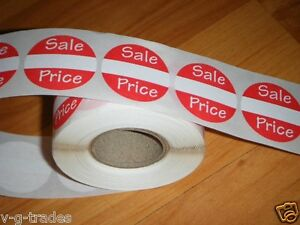 1000 Self adhesive Sales Price Labels 1 Stickers Tags Retail Store Supplies