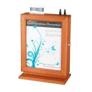 Safco Customizable Wood Suggestion Box Cherry 4236cy