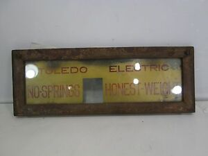 Vintage Toledo Computing Scale Glass Front Piece For 383d 15 X 5 5