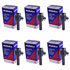 New Set Of 6 Acdelco Bs C1558 Performance Ignition Coil