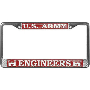 Us Army Corps Of Engineers Metal License Plate Frame Made In Usa