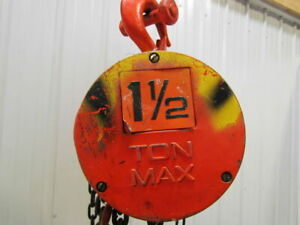 Cm Cyclone 1 1 2 Ton Manual Chain Fall Hoist 10 Lift 3000 Lb W load Limiter