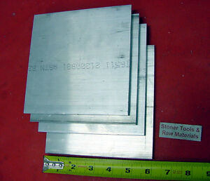 8 Pieces 1 4 X 6 Aluminum 6061 Flat Bar 7 5 Long 250 T6511 Plate Mill Stock