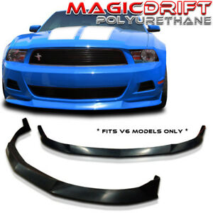 For 10 11 12 Ford Mustang V6 Stl Poly Urethane Front Bumper Lip Chin Splitter Pu