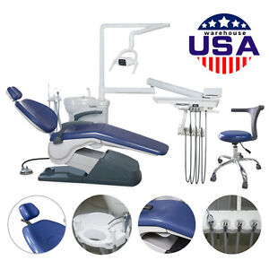 Fda Dental Chair stool Unit Computer Controlled 110v Hard Leather Exam Chair Us