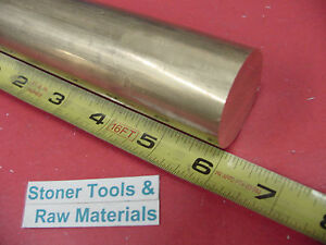 1 1 2 C360 Brass Round Rod 6 Long Solid H02 Lathe Bar Stock 1 50 Diameter X 6