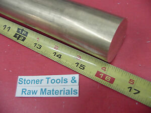 1 1 2 C360 Brass Round Rod 16 Long Solid 1 500 Od H02 Lathe Bar Stock