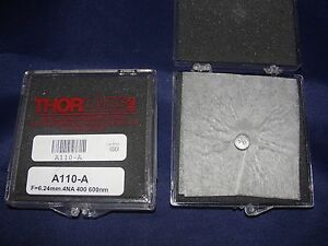 Thorlabs A110 a Unmounted Rochester Aspheric Lens Ar 650 1050nm New Lot Of 2