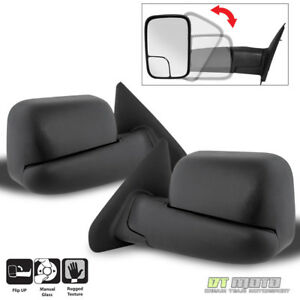 Left Right 02 08 Dodge Ram 1500 03 09 2500 3500 Tow Extend Flipup Manual Mirrors