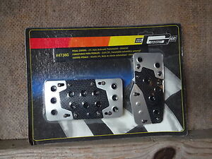 Mr Gasket 4736g Carbon Fiber Style Pedal Covers Automatic Transmission Auto New