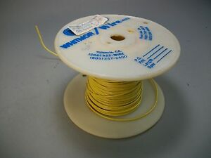 Whitmor Wirenetics Tinned Copper Electrical Wire 22 Awg Yellow Color 300 Feet