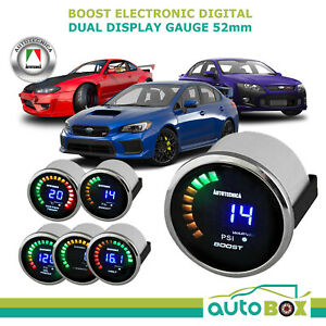 52mm Electronic Digital Turbo Petrol Boost Gauge By Autotecnica S15 Wrx Fpv Xr6t