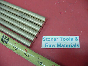 6 Pieces 7 16 C360 Brass Solid Round Rod 14 Long New Lathe Bar Stock H02 437