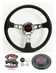 1969 1973 Chevelle Steering Wheel Red Bowtie 14 Leather