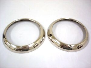 1948 1955 Ford Pickup Truck 49 50 Passenger Car Ss Headlight Rings Rim Pair