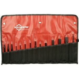 Mayhew 61044 14 Piece Pro Punch And Chisel Kit