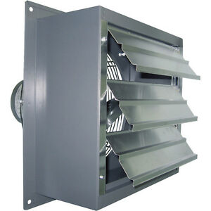 12 Wall Exhaust Fan 1 3 Hp Variable Speed 1 650 Cfm 115 230v 1700 Rpm