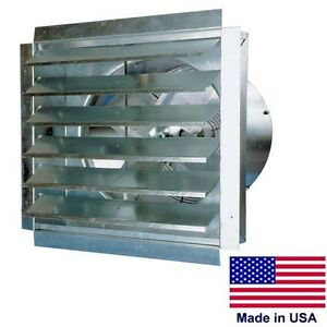 24 Commercial Exhaust Fan Shutters 4100 Cfm 4 35 Amps 115 Volt 1 Speed