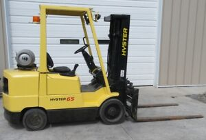 2002 Hyster S65xm Forklift 5500 Lb Capacity Cushion Tires Propane
