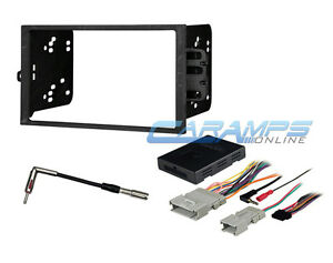 Double Din Car Stereo Radio Dash Kit With Bose Onstar Interface Wire Harness