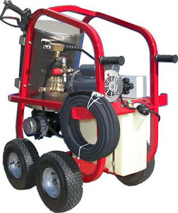 Electric Hot Water Pressure Washer 1 300 Psi 1 75 Gpm 110v Direct Drive