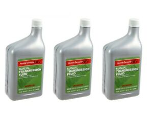 Set Of 3 Manual Transmission Fluid Bottles For Acura Honda 1 Quart Container Oes