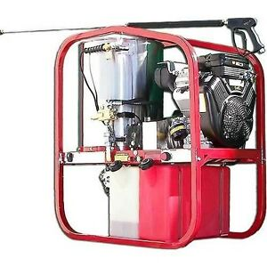 Hot Water Pressure Washer Gas 3000 Psi 4 Gpm 10 Hp 12 Volt 1 Phase