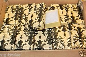 Lot Of 100 Damask Print Cotton Filled Jewelry Gift Boxes 2 1 2 X 1 1 2 Box
