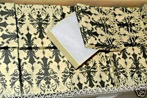 Lot Of 50 Damask Print Cotton Filled Jewelry Gift Boxes 3 1 2 X 3 1 2 X 1 Box