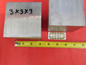 2 Pieces 3 X 3 Aluminum 6061 Square Solid Bar 3 Long T6511 Flat Mill Stock