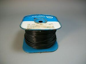 Belden 8450 Solid 2 conductor Shielded Cable Wire 22 Awg Black Color 500ft New