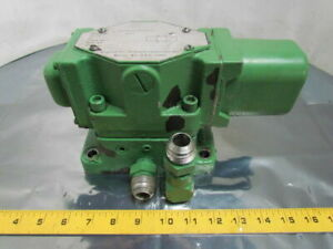 Rexnord 1 2 Hydraulic Directional Valve Subplate 115v Solenoid 3000 Psi 1 2 npt