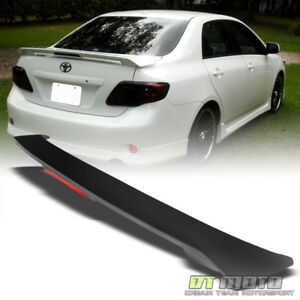 For 09 13 Toyota Corolla S Le Xle Xrs Rear Trunk Abs Spoiler Wing led Brake Lamp