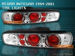 Fit For 94 01 Acura Integra Tail Lights Clear 2drs 95 00 99 G2