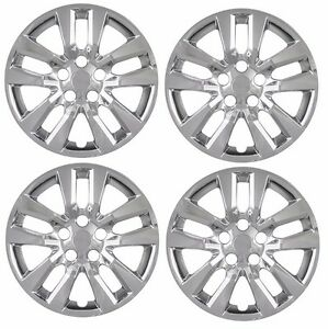 New 16 Chrome Hubcap Wheelcover Set Of 4 That Fits 2007 2015 Nissan Altima