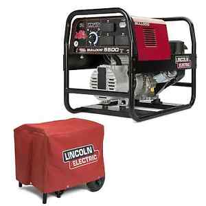 Lincoln Bulldog 5500 Stick Welder Generator With Cover k2708 2 K2804 1