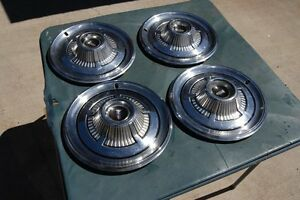1966 Plymouth Wheel Covers Hubcaps Set 4 Nice 14