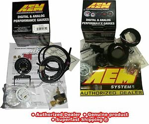 Aem 2 Gauges Combo Uego Wideband Air Fuel Turbo Boost Pressure 30 4406 30 4110