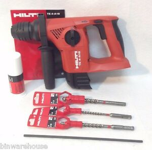 New Hilti Te 4 a18 18v 21 6v Cordless Rotary Hammer Drill Sds Tool Only