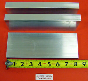 3 Pieces 1 X 3 1 2 Aluminum 6061 Flat Bar 8 Long T6511 Solid Plate Mill Stock