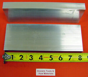 2 Pieces 1 X 3 1 2 Aluminum 6061 Flat Bar 8 Long T6511 Solid Plate Mill Stock