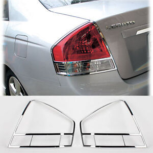 2007 2008 Spectra Cerato Chrome Rear Tail Lamp Cover Molding Car Trim K 553