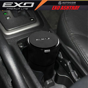 Autocom Car Auto Exo Portable Cigarette Smokeless Ashtray Holder Black New