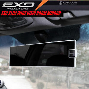 Autocom Exo Slim Wide Wide View Car Auto Rear View Rearview Room Mirror White