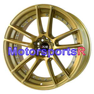 Xxr 969 Gold 18 Staggered Rims Wheels Concave 5x4 5 99 04 Ford Mustang Gt Cobra
