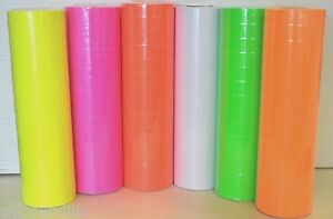 6 Tubes Colors Price Tags For Mx 6600 2 Lines Gun White Green Yellow Red Pink