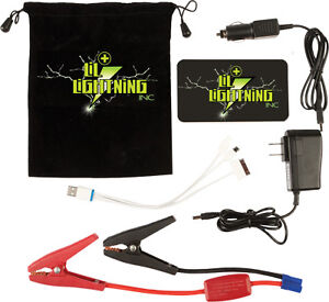 Lil Lightning Rescue Pak Ultra Slim Car Truck Atv Utv Jump Start Pack Kit Rpus