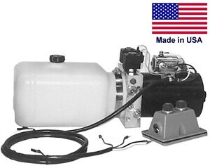 Commercial Hydraulic Dc Power Unit 4 Way Function Side Mount 0 86 Gal